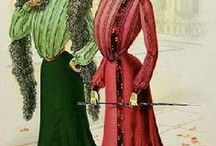 1901, Edwardian era (1901-1919) / The major change in the new Edwardian style was the end of the corset and the introduction of the new 'health corset' with an S bend look
