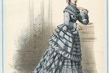 1875, skirts slimmed down