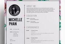 currículo / Ideias de design de currículo.