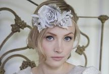 BRIDAL / Beautifully handcrafted bridal couture featuring flower headbands, crystal headpieces, cocktail hats and birdcage veils.