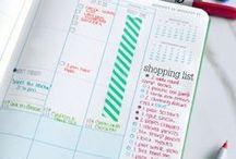 planner // organização / Inspiração para planners e ideias de organização de agendas/cadernos!