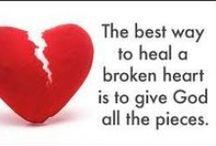 """God Meets Us in Brokenness / """"The Lord is near to those who have a broken heart, And saves such as have a contrite spirit."""" Psalm 34:18 www.MaureenHager.com"""