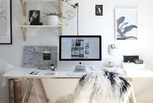 """Work ◈ Space / """" I've got a theory: if you love your workspace you'll love your work a little more """" - Cynthia Rowley -"""
