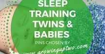 SLEEP TRAINING BABIES & TWINS / ADVICE ON HOW TO SLEEP TRAIN BABIES AND TWINS. PINS CHOSEN BY GROWINGUPTWO.COM - A FAMILY TRAVEL BLOG RUN BY A TWIN MUM