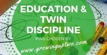 EDUCATION AND TWIN DISCIPLINE / A SELECTION OF PINS TO HELP PARENTS OF TWINS EDUCATE AND DISCIPLINE THEIR TWINS OR MULTIPLES. PINS CHOSEN BY GROWINGUPTWO.COM, A FAMILY TRAVEL BLOG RUN BY A TWIN MOTHER