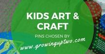 KIDS ART AND CRAFT / IDEAS ON ART AND CRAFT PROJECTS FOR THE KIDS. PINS CHOSEN BY GROWINGUPTWO.COM - POPULAR FAMILY TRAVEL BLOG