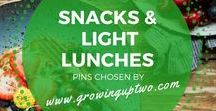 SNACKS AND LIGHT LUNCHES / A COLLECTION OF SNACK RECIPES AND IDEAS FOR LIGHT LUNCHES CHOSEN BY GROWINGUPTWO.COM - A POPULAR FAMILY TRAVEL BLOG