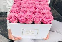 FLOWERBOX -  Blumen Box mit infinity Rosen / Blumenboxen aus unserer L´infini Edition Kollektion.