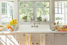 Kitchens I Want / Wanted: lots of space, lots of color, and lots of natural lighting  / by Katie Newman
