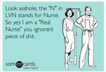 I Am A Nurse! / A collection of all things related to nursing. You will find cute scrubs, disease information, books, resources as well as some jokes.  / by Amber Ligon