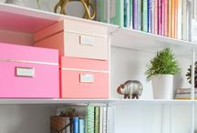 Office Space / Ideas for my ultimate home office Office, diy, decorating, home office, study, home study, office decor office decorating, workspace, work space, pastels, storage, craft room