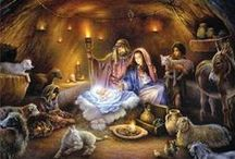 Christ-Centered Christmas and Advent / Joseph also went up from Galilee, from the city of Nazareth, to Judea, to the city of David which is called Bethlehem, because he was of the house and family of David, in order to register along with Mary, who was engaged to him, and was with child. While they were there, the days were completed for her to give birth. And she gave birth to her firstborn son; and she wrapped Him in cloths, and laid Him in a [d]manger, because there was no room for them in the inn. Luke 2:4-7  / by Valerie Williams