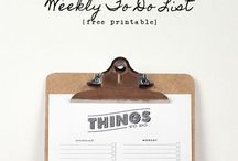 Planning & Organization / Tips, Charts and Printables of all sorts / by Valerie Williams