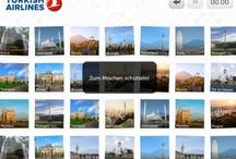 Turkish Airlines Destination Pairs / Beispiele aus einer App, die wir gemeinsam mit ADBA Istanbul für Turkish Airlines entwickelt haben.