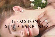 Gemstone Stud Earring / What can be more exciting for a lady than to have a pair of her favorite accessories in every possible color and style to go with the various outfits in her wardrobe. With Vishal Jewelry amazing collection of gemstone earrings this is now a possibility.