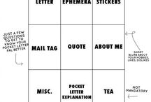Put a letter in your pocket / Pocket letter and snail mail ideas for pen pals