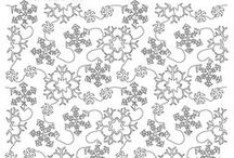 Christmas/Winter Quilting Desigsns / Christmas and winter longarm quilting designs  / by Vickey Hughes