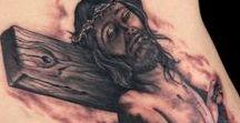 Black & Gray Religious Tattoos / Ink Master Season 5 Episode 10