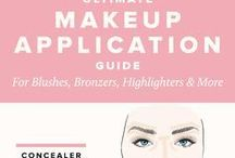 Contouring & Brow Tips / Contouring tips & advice Contouring, contour, diagrams, before & after, shading, shadow, highlighter, highlighting, face shape, create cheekbones, make-up, makeup, powder, cream, contouring tutorials, brows, eyebrows, Brow inspiration, contour inspiration, contour makeup