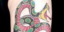 American Traditional Snake Tattoos / Ink Master Season 9 Episode 13