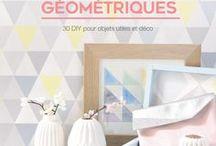 """Inspirations géométriques / Thème géométrique, quel que soit le support ! Geometry forever ! Et mon livre """"Inspirations géométriques"""" paru en 2016 chez Eyrolles. Blog : www.mimousk.blogspot.fr"""