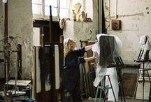 Atelier / Studio / Workshop / De jolis endroits pour créer... Nice places to create. Blog : www.mimousk.blogspot.fr
