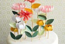 Cake toppers / Déco de gâteaux / idées pour les cake toppers en décoration de gâteaux / cake toppers ideas for baby-shower, birthday, party, wedding, ...