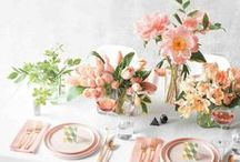 Easter Tablescapes / easter tablescape, table setting, table decorations, easter dinner, table setting ideas, easter diy, easy easter diy, easter decorations, elegant easter decor,