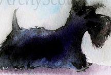 Scottish Terrier Art / Scottie Dog