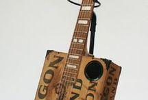 Cigar Box Oil Can Guitars, Ukes etc.