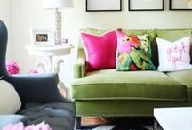 Colourful Interiors / Just because the weather is getting gloomy doesn't mean our homes have to. We have collected gorgeous inspirational brightly coloured homes. Don't be afraid of colourful, bold home interiors, embrace them. Darlings of Chelsea are here to show you how.