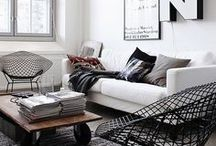 Monochrome Interiors / Cool, chic, unisex and glamorous. Black and white interiors can be bold or calming, dramatic or cozy. We have put together a list of various ways you can make your life a little more black and white. Welcome to the Darlings of Chelsea monochrome interiors inspiration board.   If you want to learn how to get this look in your home go check out our blog! http://blog.darlingsofchelsea.co.uk/monochrome-chic-why-black-white-will-never-go-out-of-style/