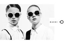 Marni / the ultimate bohemian, art-minded ethic in fashion eyewear out of the schemes, bold, provocative, edgy, curvy