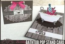 Pop it Ups Pop Stands from Karen Burniston / Pop it Ups Pop Stand dies by Karen Burniston for Elizabeth Craft Designs can be used as either a decorator die or as a standing pop-up, using the included Pop Stand die in each package. / by Elizabeth Craft Designs