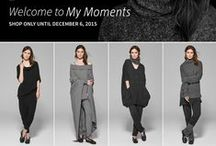 Sarah Pacini | My Moments / SHOP ONLY UNTIL DECEMBER 6, 2015 Chill out, walk, cuddle, lounge, read, or simply dream. My Moments casually dress your life in a brand new way. To be free .. / by Um Blog Fashion