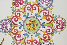 MANDALAS / Mandala es una palabra que en sánscrito, quiere decir círculo sagrado. Algunos lo llaman 'el laberinto de los círculos'.Se utiliza para meditar, concentrar energía, equilibrar los desordenes, producidos por diferentes factores, que alteran y desestabilizan. El mandala es un símbolo circular, que se encuentra desde el comienzo de la humanidad. Las diferentes culturas coinciden en que conduce hacia el camino a la unidad del ser.