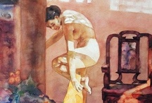 """Painting the Figure / """"What spirit is so empty and blind, that it cannot recognize the fact that the foot is more noble than the shoe, and skin more beautiful that the garment with which it is clothed?"""" —Michelangelo"""