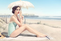 """Really Cool """"Beach Burlesque"""" Retro Style Watch Ads / Really Cool """"Beach Burlesque"""" Retro Style Watch Ads"""