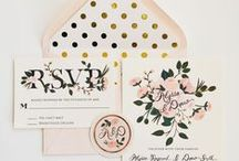 Paper Design / Paper?   Yes paper!  Menus, place cards, signs, save the dates, and invitations are all a huge part of weddings!