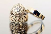 Rings: His and Hers / Eye catching engagement and wedding rings.