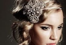 Hairstyle for the Bride / Up or down? Flowers or veil? How will you wear your hair?