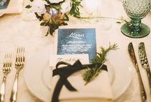 Place Settings / We love incorporating little details at guest's place settings
