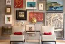 Gallery wall and wall collages