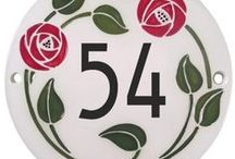 House Signs - jssigns.co.uk / Ceramic house signs. . Made in high-fired ceramic with hand-painted designs, names and numbers.  www.jssigns.co.uk  01592840638