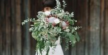 Oversized Bridal Bouquets / Wild and romantic bridal bouquets.