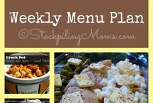 Menu Planning / Menu plans and recipes that help you save time and money in the kitchen. By menu planning you will save money, reduce waste and save time in the kitchen.  / by Stockpiling Moms