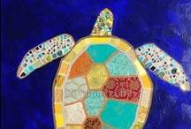 Me encanta pintar el mar / I love painting the sea / Inspiraciones para pintar con niños el mar
