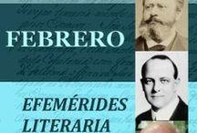 EFEMÉRIDES LITERARIA / Portadas de las publicaciones en formato EPUB de la guía biográfica de efemérides literaria.