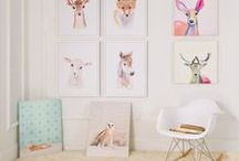 Art for the Nursery / Art is essential part of life.  Inspire your little one with gorgeous baby nursery wall art &  quotes for baby.  Create a perfect baby nursery with original art, stencils, quotes and monograms. #brattdecor