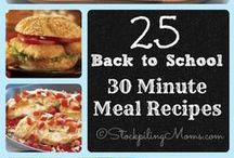 30 Minute Meals / Easy meals that take 30 minutes or less. #30MinuteMeals #EasyDinner #Recipe / by Stockpiling Moms